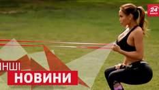 ДРУГИЕ новости. Как девушки тренируются ради заманчивых форм. Мужчина потерял сознание на мопеде