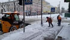 Киев замело снегом: с непогодой борется спецтехника, появились фото заносов