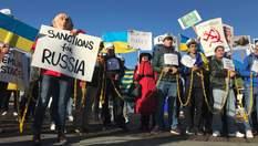 """""""Стоп, Адольф Путин!"""": в Сан-Франциско состоялась масштабная акция за освобождение пленных моряк"""