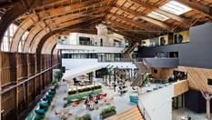 Исторический ангар превратился в фантастический офис Google: фото изнутри