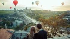 Потрясающие пейзажи Каменец-Подольского: как совершить полет на воздушном шаре