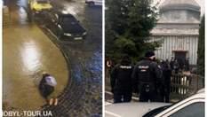 Киевляне ползли по тротуару из-за гололеда, столкновения между прихожанами – Ты смотри