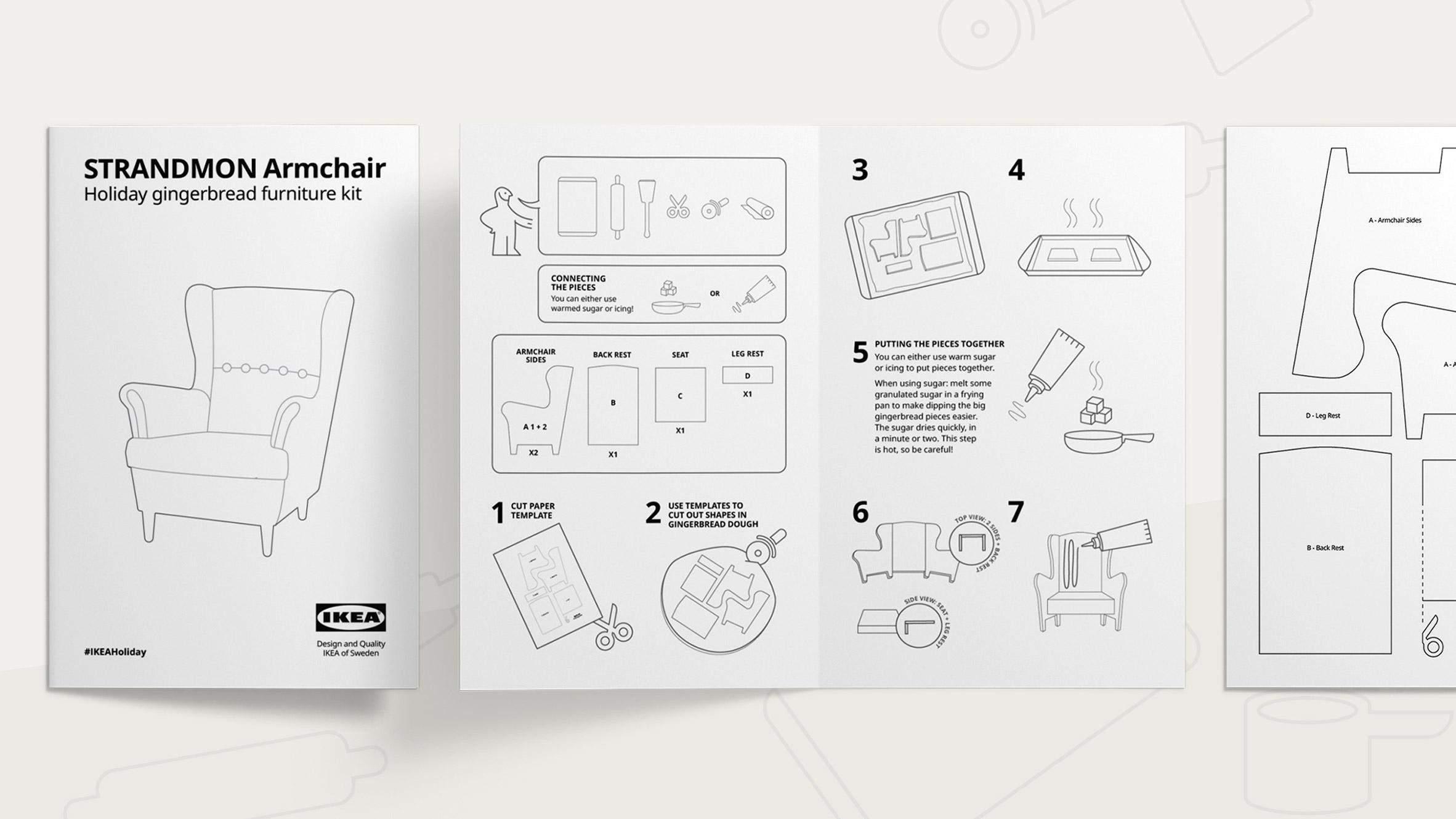 Інструкція до печива виконана в загальній стилістиці IKEA