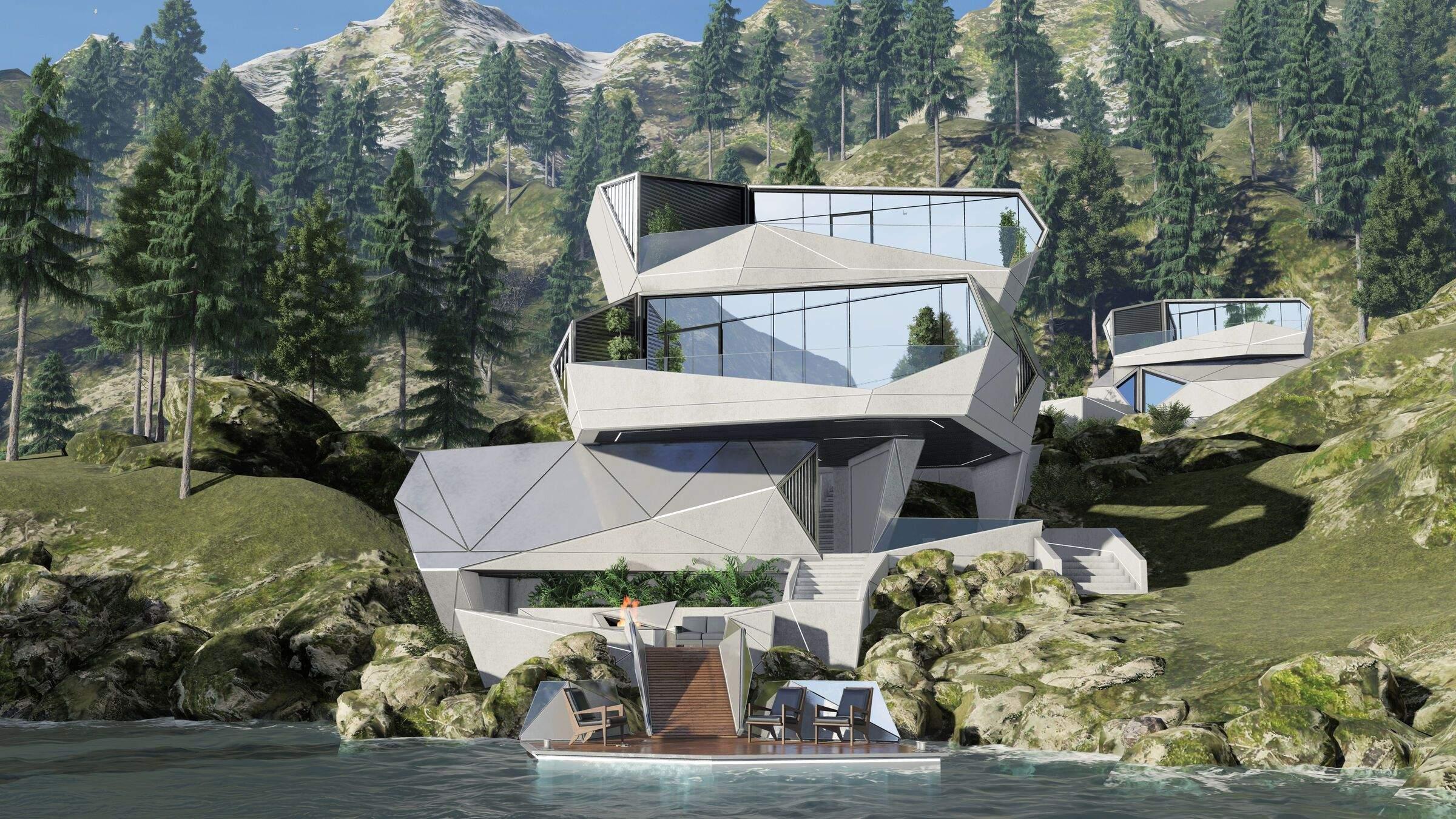 На рівнях будинку є окремі зони для медитації та відпочинку на природі / Фото  Beautiful life