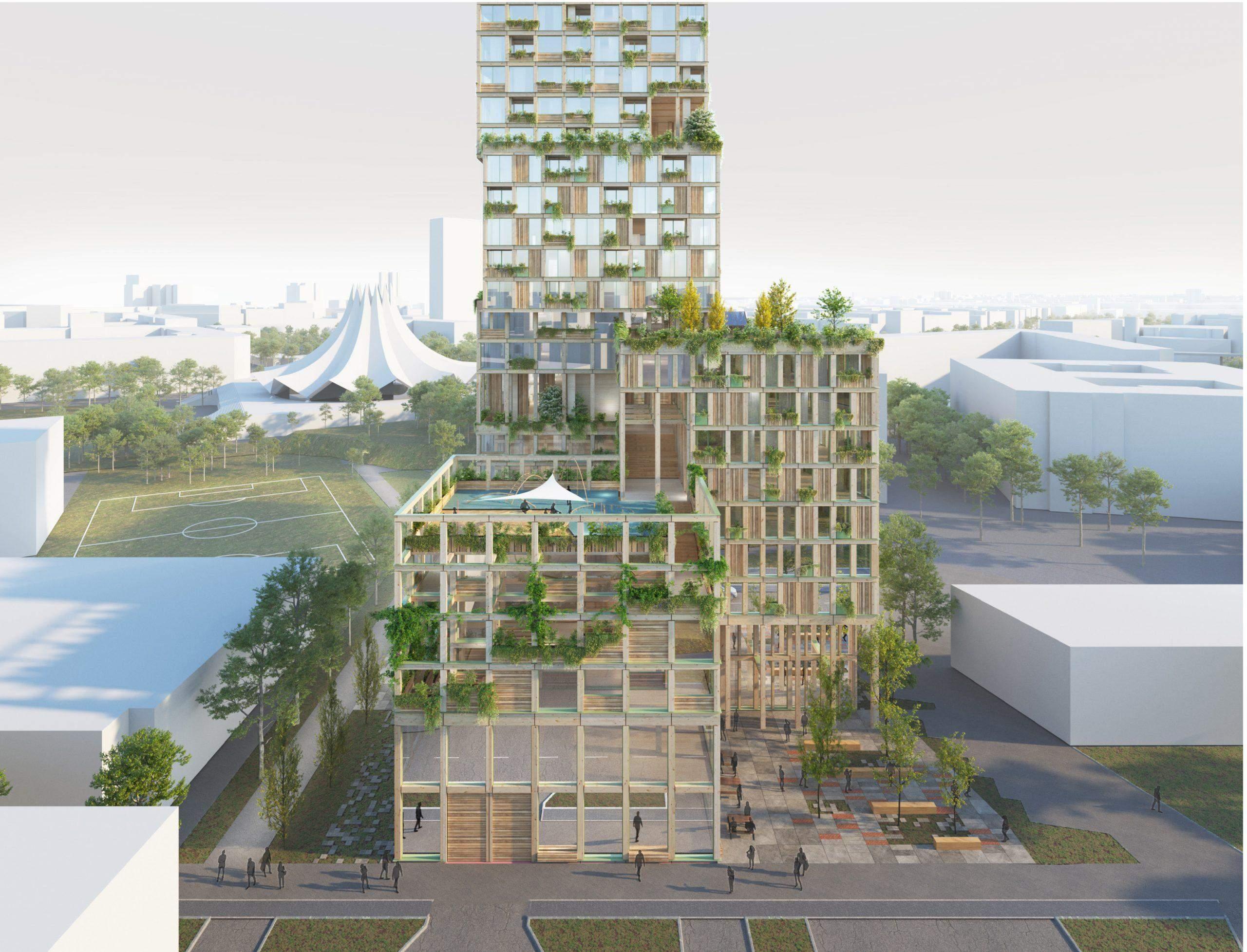 Проєкт найвищої дерев'яної вежі Європи / Фото Bloomberg CityLab