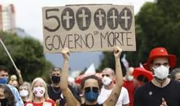 У Бразилії від коронавірусу померли 500 тисяч хворих: люди через це вийшли на масові протести