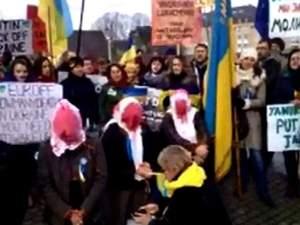 Кілька сотень українців в Бельгії зібрались на підтримку Євромайдану