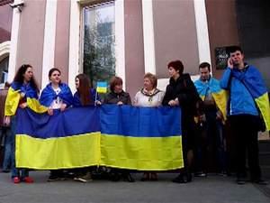 У Донецьку влаштували акцію на підтримку українського прапора