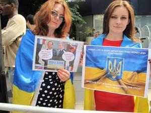 Українці у Лондоні пікетували російсько-британський бізнес-форум