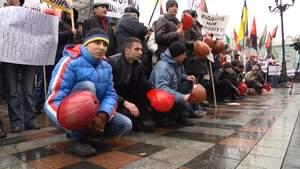 Шахтарі штурмують Київ з вимогою виплатити їм зарплати