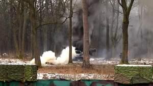 Українські вояки показали умовний бій на лазерних імітаторах