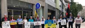 Українська громада в Португалії влаштувала акцію на підтримку Сенцова