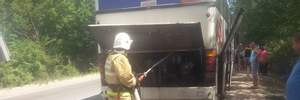 За добу в окупованому Криму горіло одразу два автобуси з пасажирами