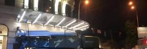"""В Киеве зенитная установка """"Бук"""" врезалась в торговый центр: фото"""