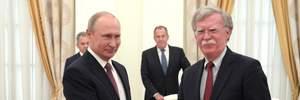 О чем будут говорить Путин и советник Трампа Болтон в Москве