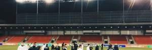 Сборная Украины опробовала газон стадиона перед матчем Лиги наций: фото