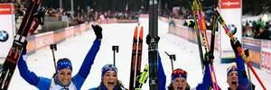 Біатлон: Італія виграла естафету, Україна з жахливою стрільбою Семеренок тільки восьма