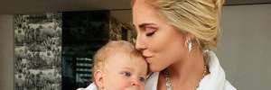 К'яра Ферраньї показала, як підріс її 10-місячний син: кумедні фото