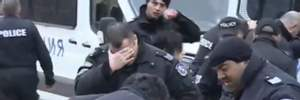 В Софии полиция распылила слезоточивый газ сама на себя: курьезное видео