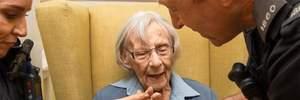 Поліція здійснила мрію 104-річної пенсіонерки: її заарештували (фото)