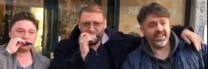Добкин собирал деньги на улицах Амстердама: видеодоказательство