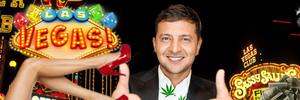 Зробити Лас-Вегас: як Зеленський ставиться до легалізації зброї, марихуани та проституції