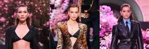 Ірина Шейк і сестри Хадід виблискували на розкішному показі від Versace: неймовірні фото