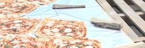 На Тернопольщине приготовили самую большую пиццу в Украине: фото