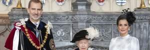 Образ на мільйон: королева Летиція засвітила сумку за 1400 євро на зустрічі з Єлизаветою ІІ