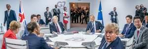 Лідери G7 дійшли згоди щодо ймовірної участі Росії