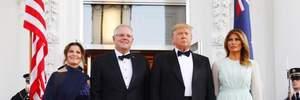 Меланія Трамп прийшла на офіційний прийом в ефектній вечірній сукні: фото