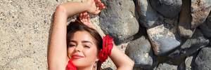 Деми Роуз закрыла грудь наклейками и снялась обнаженной на фоне скал: эротическое фото 18+