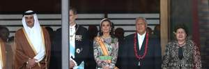 Іспанська монархиня Летиція засвітила розкішну сукню на коронації імператора Нарухіто: фото