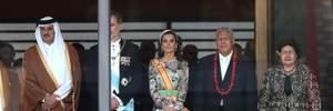 Испанская монархиня Летиция засветила роскошное платье на коронации императора Нарухито: фото