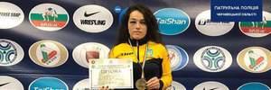 Украинская полицейская с синяком на поллица стала чемпионкой мира по панкратиону: фото