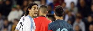 Давай драться: Месси и Кавани едва не устроили драку во время матча – видео
