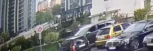 Стрельба в Киеве: появилось видео нападения на главаря наркокарателя