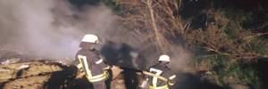 На київському сміттєзвалищі спалахнула пожежа