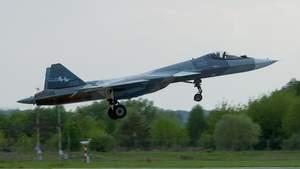Росія випробовує прототип винищувача нового покоління: фото літака