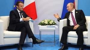 Путін осоромився на зустрічі з Макроном через українських політв'язнів