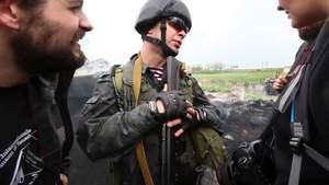 У мережі показали відео, де нацгвардієць Марків спілкується з італійцями у Слов'янську