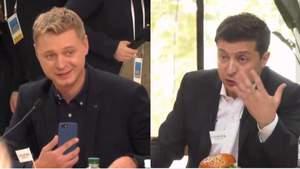 Между Зеленским и журналистом 24 канала Голобородько состоялся эмоциональный спор: видео