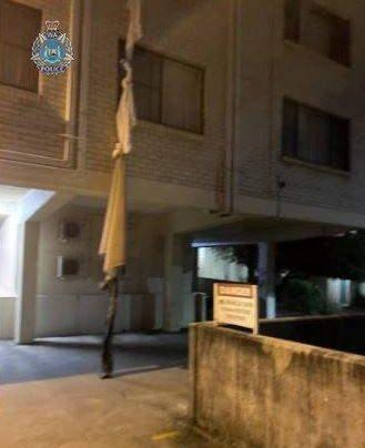 Втеча з карантину: чоловік втік з 4-го поверху готелю, зв'язавши разом простирадла