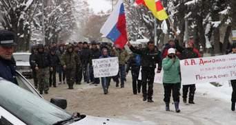 Прихильники Джиоєвої розпочали протест під ЦВК Південної Осетії