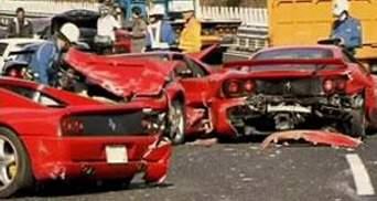 В Японії в ДТП розбилися 8 Ferrari, 2 Mercedes та Lamborghini