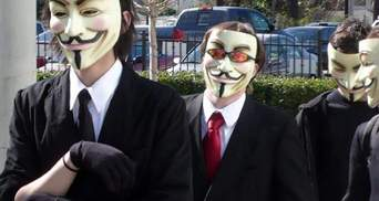 Украинские Anonymous угрожают властям атаками со всего мира