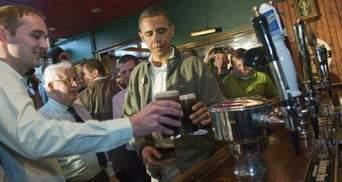 Обама День святого Патрика праздновал в пивном пабе