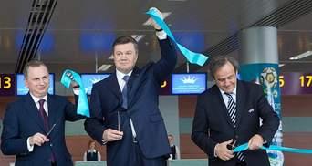 Янукович і Платіні відкрили новий термінал аеропорту у Львові