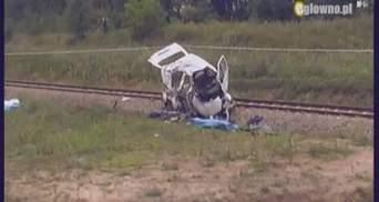 Аварія у Польщі сталася тому, що водій не впорався з керуванням