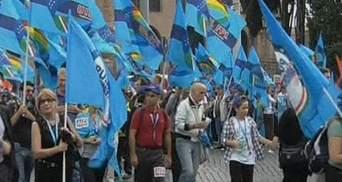 Профсоюзы Италии вывели на улицы тысячи работников госсектора